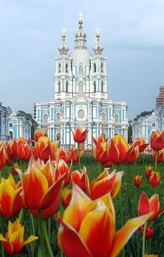 Smolny Cathedral, St.Petersburg, Russia