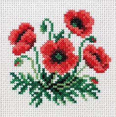 Χειροτεχνήματα: Λουλούδια σταυροβελονιά (cross stitch flowers ):