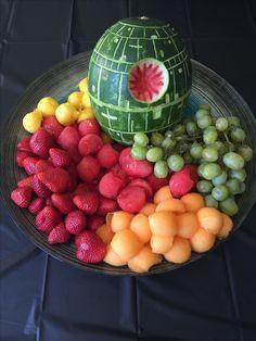Star Wars party. Death Star watermelon