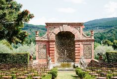 A stunning backdrop like this one in Lucca, Italy, means you can keep the ceremony decor to a minimum! // Destination Weddings - Loving Vows in Lucca, Italy // Photo courtesy of Cassandra Photo