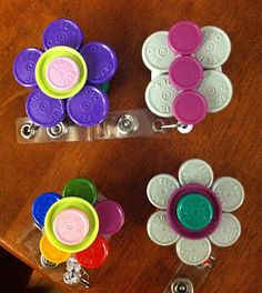 Medication cap id badges. The nurse and crafter come together