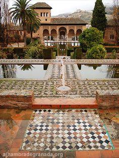 Alhambra : Garden of the Partal (Spain) #spain #sightseeing