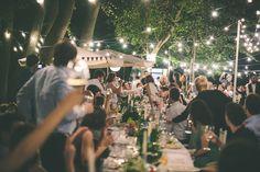 festa a noite e ao ar livre