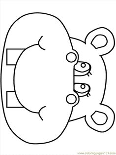 Hippo Clip Art Coloring Pages