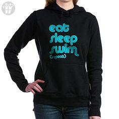 CafePress - swim solo Hooded Sweatshirt - Pullover Hoodie, Classic & Comfortable Hooded Sweatshirt - Eat sleep repeat t shirts (*Amazon Partner-Link)