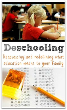 What is deschooling? Deschooling means different things to different people. Personally, I see deschooling is a process