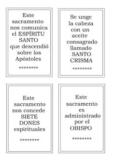 La Catequesis (El blog de Sandra): Recursos Catequesis Los Sacramentos Kids Church Lessons, Prayers, Cards Against Humanity, Faith, Games, Blog, Confirmation, Molde, Children Church Lessons