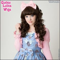 Gothic Lolita Wigs®  Lady Amara™ Collection - Dark Brown