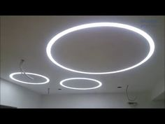 потолок 21. Световые кольца в гипсокартоне. Gypsum ceiling install. - YouTube