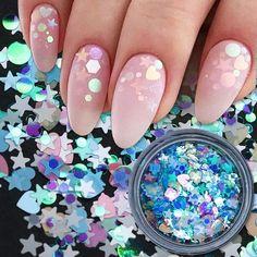 Star Nail Art, 3d Nail Art, Nail Art Tools, Stiletto Nail Art, Glitter Nail Art, Bling Nails, 3d Nails, Pastel Nails, Colorful Nails
