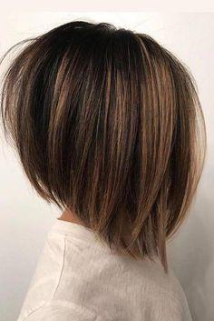 Ideas Hair Balayage Brunette Bob Dark Brown For 2019 Latest Short Hairstyles, Wavy Bob Hairstyles, Trending Hairstyles, Hairstyles 2018, Bob Haircuts, 1930s Hairstyles, Corte Bob, Pelo Bob, Hair Lengths