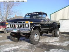 Old School Ford F-350 Dually