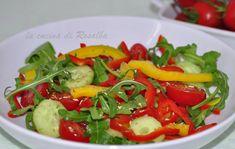 insalata rucola cetrioli e peperoni