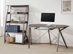 Harsen Home Office Set - Weathe Red Grey