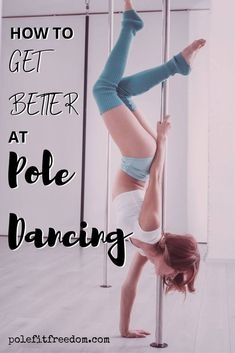 Are you hoping to get better at pole dancing? Here are some tips to help you progress your pole fitness to the next level and work towards your pole goals! Pole Fitness Moves, Pole Dance Moves, Pole Dancing Fitness, Barre Fitness, Fitness Exercises, Pole Dancing Clothes, Pole Dance Outfit, Pole Tricks, Barre Workout