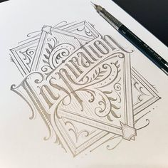 Working on a series of graphics for letterpress print #handlettering #lettering #inspiration #sketch #drawing #graphicdesign #design #typography #type #customlettering #details