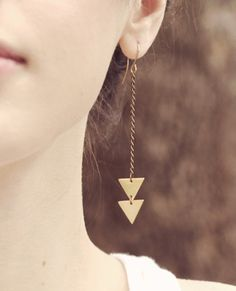 Arrows and triangles are so hot lately! Love these! {jewelmint}
