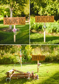 Fantastic party game ideas for an outdoor summer wedding! photos by Nordica Photography | junebugweddings.com