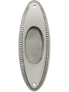 Pocketdoor Hardware Pulls. Beaded Oval Pocket Pattern Pull