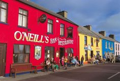 WEST CORK, Co. Famed for its colorful streets, Allihies in West Cork might be a small village but it sure has big personality. Ireland Pubs, Ireland Travel, Cork Ireland, Tourism Ireland, Ireland Pictures, Images Of Ireland, Ireland Destinations, Voyager Seul, West Cork