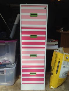 I made over my old nasty filing cabinet!! :)