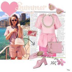 """Summer pink"" by heyheraaa on Polyvore"