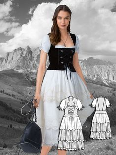 German dress pattern. Love this style!