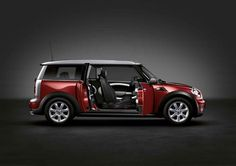 The MINI Cooper Clubman in Nightfire Red with exterior mirror caps in Silver. Classic colors are a beautiful thing.