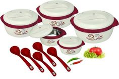 Nayasa Pack of 10 Casserole Set Price in India - Buy Nayasa Pack of 10 Casserole Set online at Flipkart.com