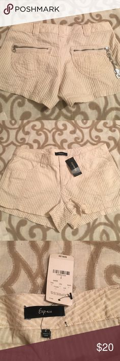 Express Shorts Cotton and Soft Preppy Express Short Shorts, Super Cute, Zipper back pockets with cute pocket candy💑 Express Shorts