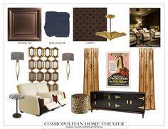 The whole Cosmopolitan Home Theater design.  #fifthwallfriday #ceilume #ceiling #interior #design #diy #hometheater