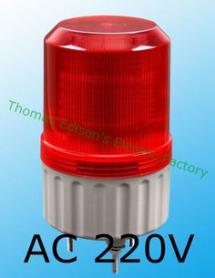 LTE-1081 AC 220V  Rotating Industrial Signal Tower Warning Light Red Yellow Blue Green #Affiliate