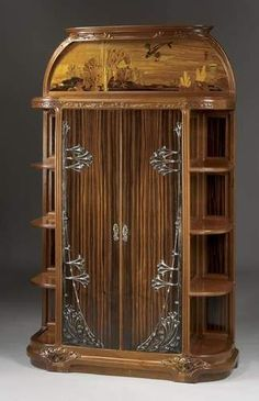 Art Nouveau Cabinet by Louis Majorelle 1910 Victorian Furniture, Unique Furniture, Vintage Furniture, Furniture Design, Furniture Online, Rustic Furniture, Bedroom Furniture, Outdoor Furniture, Muebles Art Deco