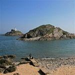 Mumbles lighthouse, Mumbles, Swansea, South Wales, UK