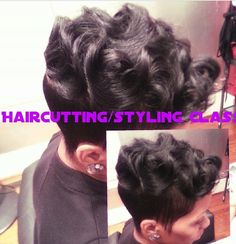 Razorchic Short cut with deep waves