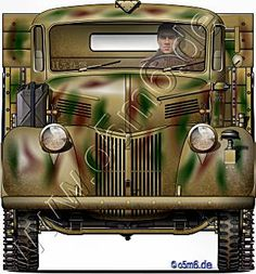 """Engines of the Red Army in WW2 - Trophy """"Ford V3000S/SSM"""", 2-ton, Halftrack, Cargo Truck"""