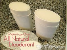 All Natural DIY Deodorant Recipe & Tutorial - So much healthier and easy to make! artsychicksrule.com