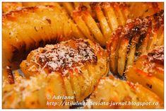 cartofi acordeon aurii Shrimp, Meat, Recipes, Food, Meal, Eten, Recipies, Meals, Food Recipes