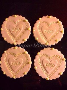 XOXO Cupcake Toppers on Etsy, $15.99