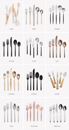 i am still very kitchen obsessed rn, and i've reeeally been wanting some new flatware lately because ours isn't cute or clean anymore. gold, copper and matte black flatware is finally w… wedding tables black 12 modern flatware sets Kitchen Items, Kitchen Gadgets, Kitchen Decor, Kitchen Modern, Kitchen Appliances, Decoration Hall, Decoration Bedroom, Modern Flatware, Flatware Set
