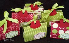 Take a look at these treat bags.  They are just fantastic!