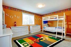 #SuperHeros Marvel Logo Rug for a child's Bedroom