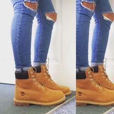 Stomping good boots - the Timberland 6 Inch Premium ankle boots in natural. <3 c/o @amyyfrancis