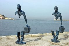 Bruno Catalano is a French artist whose sculptures are often missing pieces. The human figures are travelers heading towards unknown destination, lack...