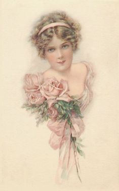 I thought I would start up Free Clip Art Monday's again. I get such pleasure cleaning these up and sharing with you. Hope you enjoy . Éphémères Vintage, Vintage Rosen, Images Vintage, Vintage Ephemera, Vintage Girls, Vintage Pictures, Vintage Postcards, Vintage Prints, Vintage Clip Art