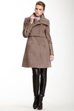 47f38170a09a9c Maddison Wool Blend Coat Volwassen Vrouwen, Elie Tahari, Wol Mix, Nertsen,  Nette