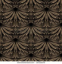 Art deco vector geometric pattern in brown color. Seamless texture for web, print, wallpaper, Christmas gift wrapping, home decor, winter fa...