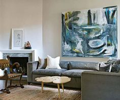 """Decorating with Abstract Art - it is my favorite along with """"illustration"""" art"""