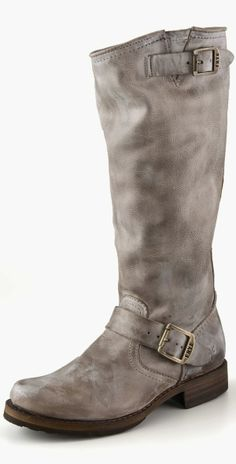 Frye Leather Cow Boy Long Boots