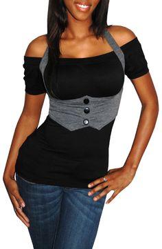 $27.8 #Shirt #BlackGrey #GreatGlam
